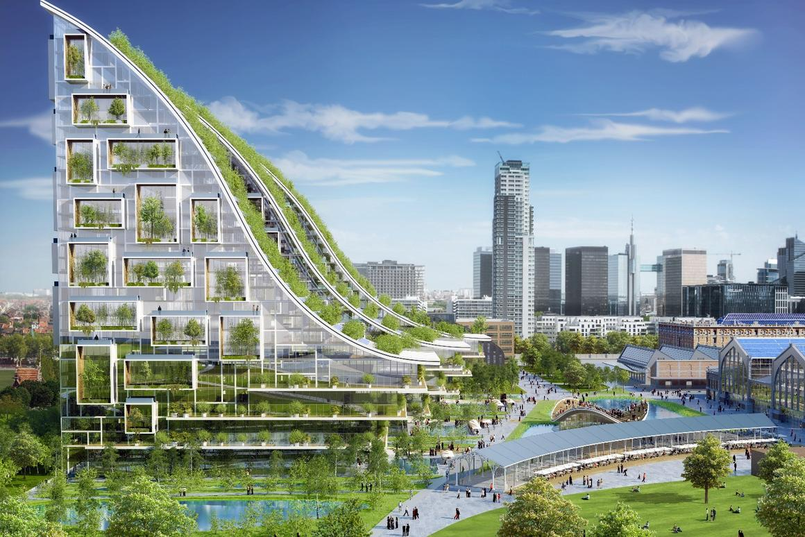Vincent Callebaut posits that the Tour & Taxis proposal could serve as a blueprint for other European cities