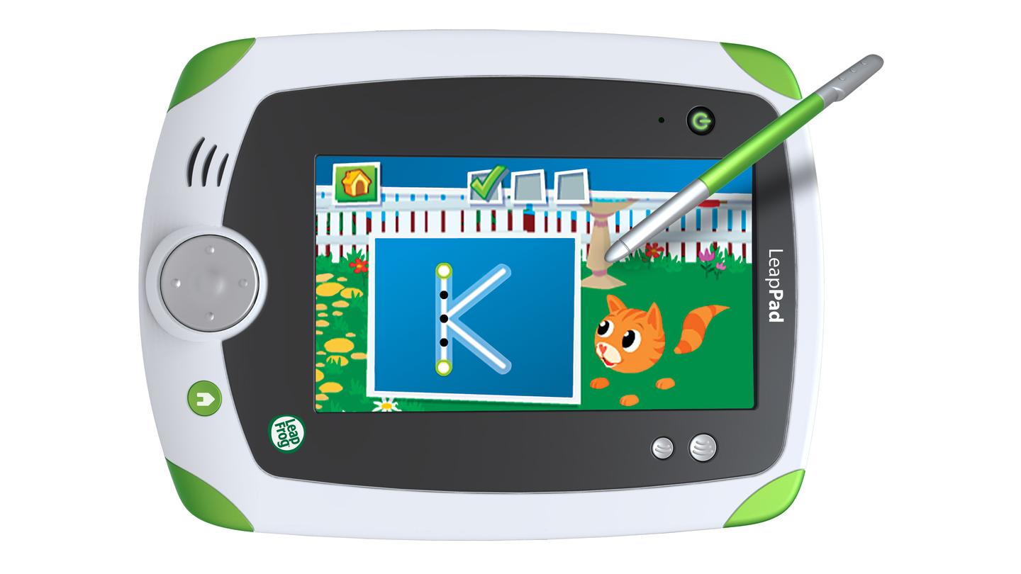 Little learners can look forward to HD-like graphics on the 5-inch finger touch screen, where a child-sized stylus can be used to practice such things as drawing or hand-writing