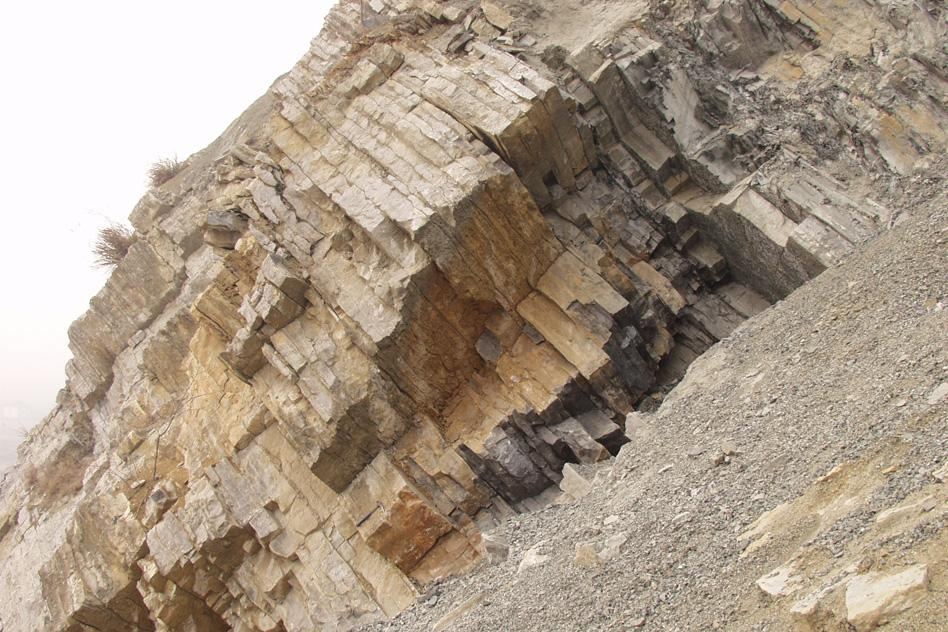 A photo of the permian triassic boundary at Meishan, China (Photo: Shuzhong Shen)