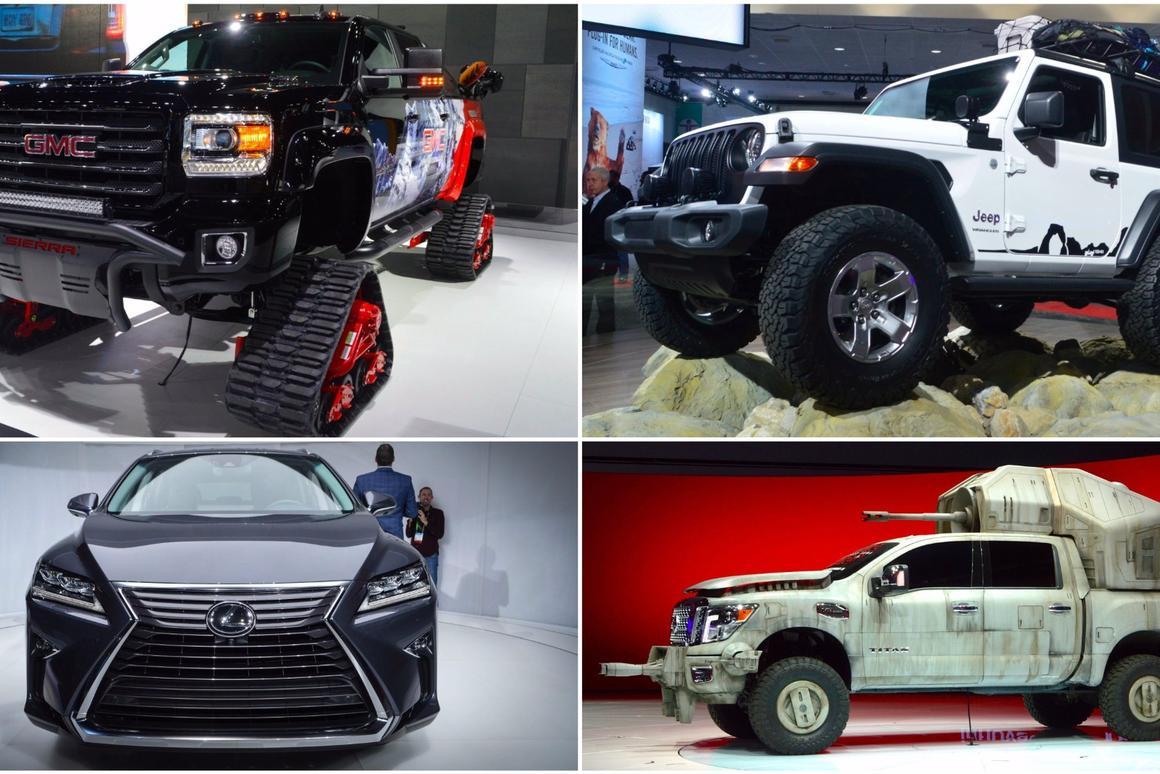 The LAAuto Show inSUVs, trucksand vans
