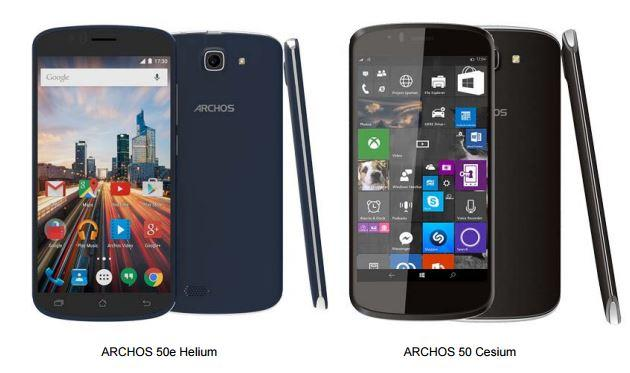 The Archos 50 Cesium is the first smartphone shipping with Windows 10 Mobile to be unveiled