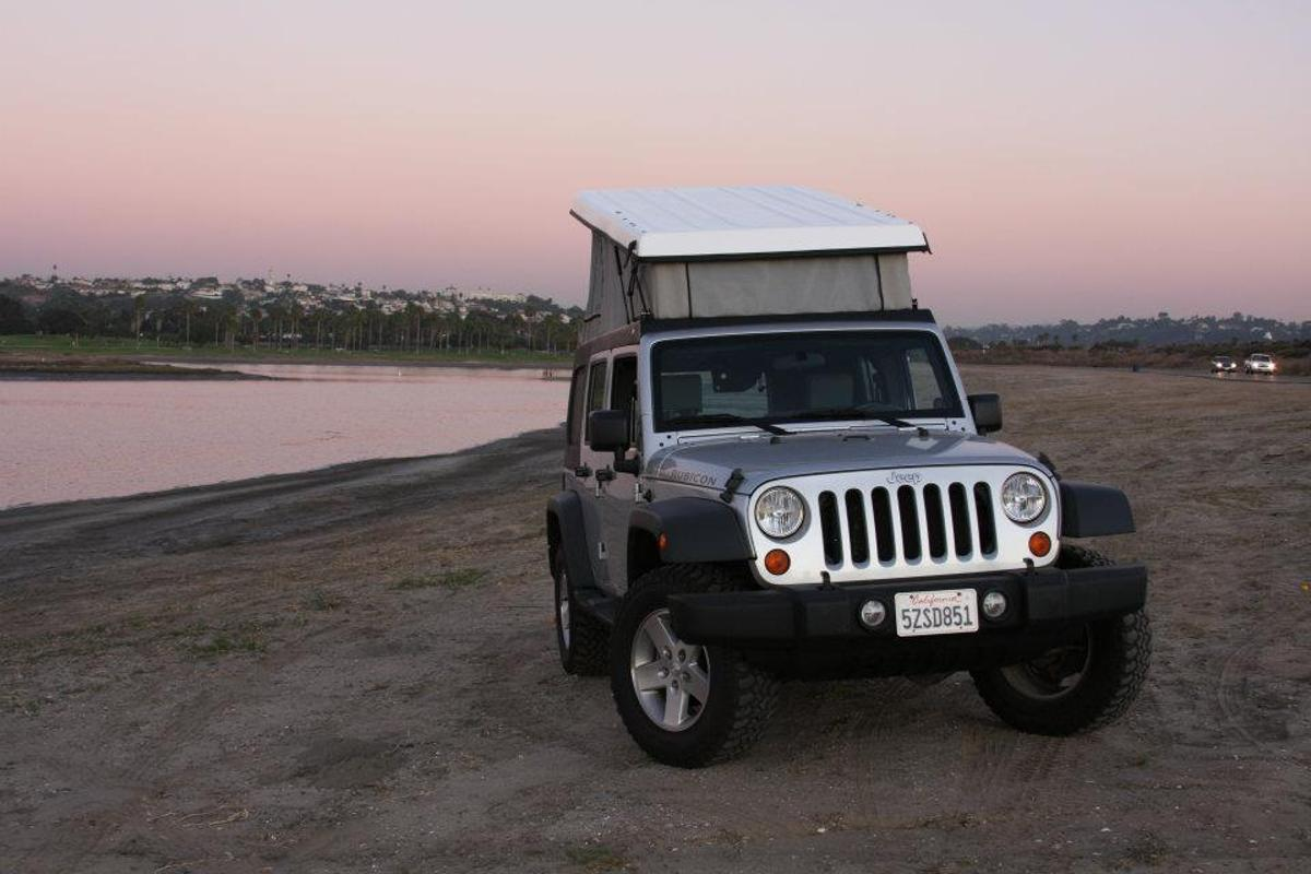 The J30 allows campers to sleep up top while keeping the cabin interior intact