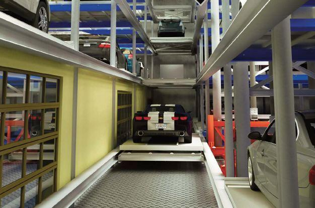 Rendering of the Auto Parkit fully automated parking garage