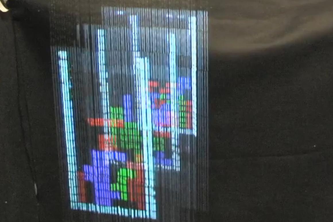 A multi-dimensional Tetris game on the AquaLux 3D
