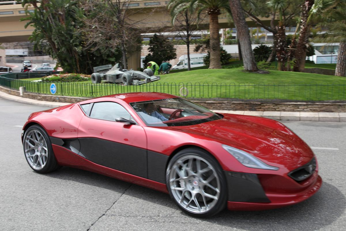 The Rimac Concept One traveled to the recent Top Marques Monaco