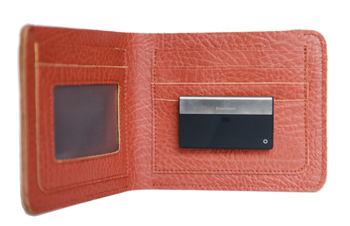 The SmartWallit slips inside your wallet