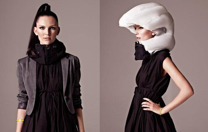 The Hövding is an airbag for cyclists which inflates in under 0.1 seconds to protect your head