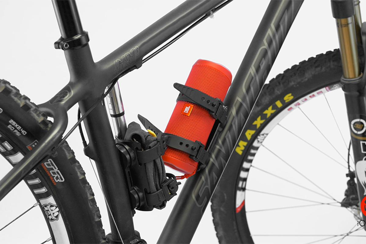 Mule allows cyclists to carry various items in place of their water bottle cage