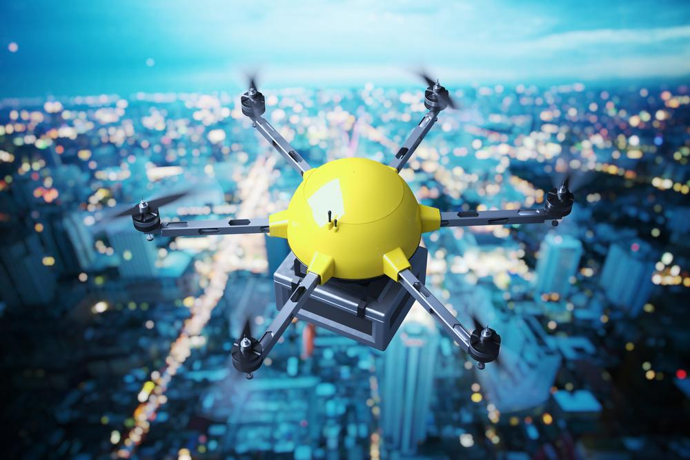 Amazon's Bring it to Me service aims to delivery packages by drone to users by tracking their locations via smartphone (Image: Shutterstock)