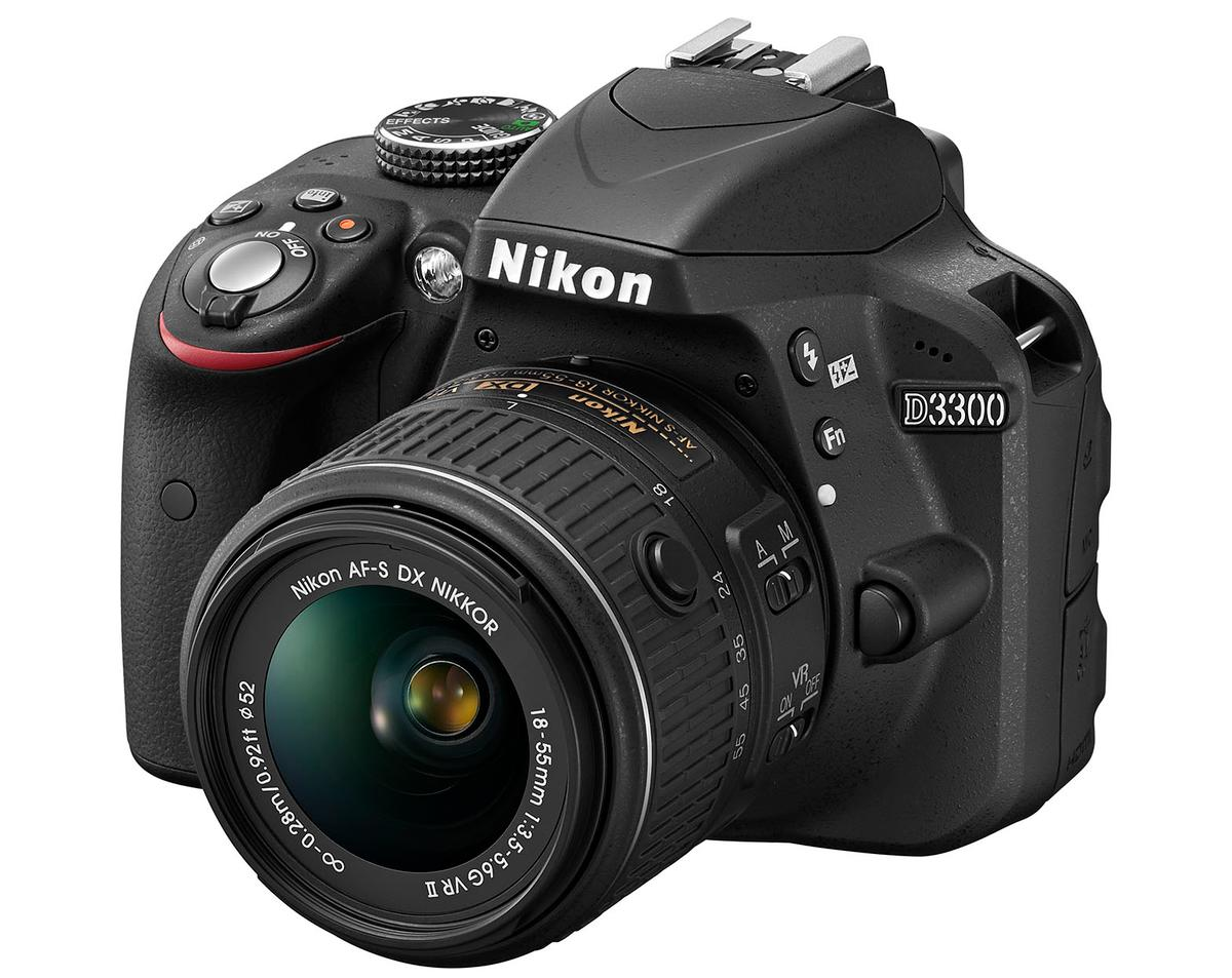 The Nikon D3300 will be bundled with a new smaller 18-55-mm kit lens