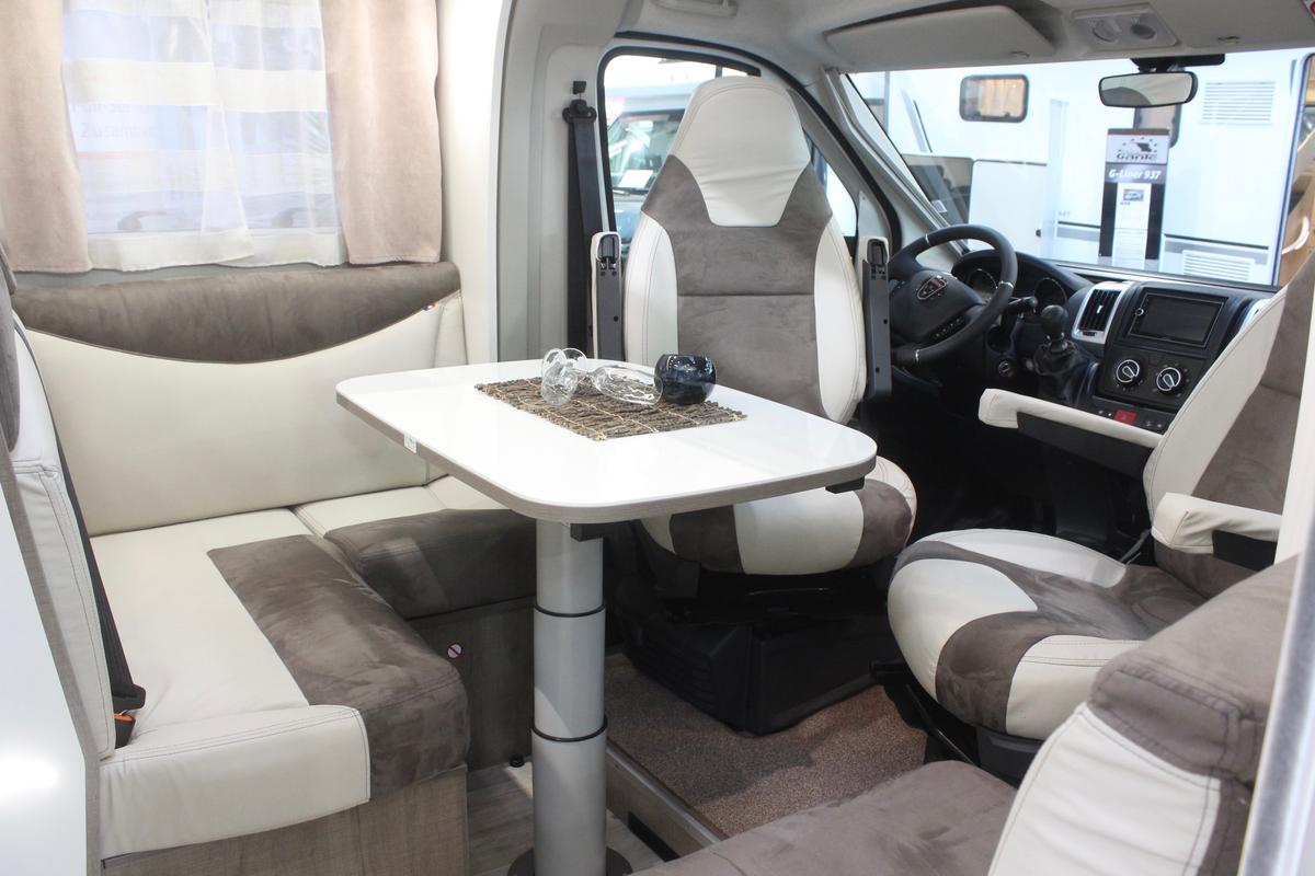 The WOF Iridium has a front dining lounge with up to five seats