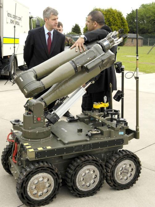 Under-Secretary of State for Defence, Derek Twigg MP, paid a visit to East Anglia to highlight the defense industry's support for the community. At Wattisham Airfield, he met Northrop Grumman's Nasser Bhatti who displayed the prototype CUTLASS robotic veh