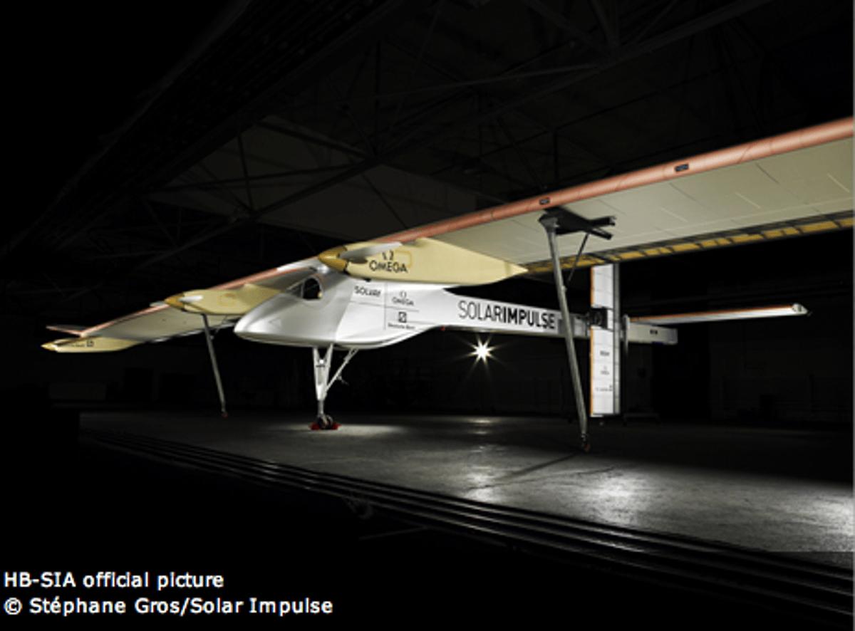 The Solar Impulse 100% solar-powered aircraft was unveiled near Zurich on June 26th.(Photo: Stephane Gros/Solar Impulse)