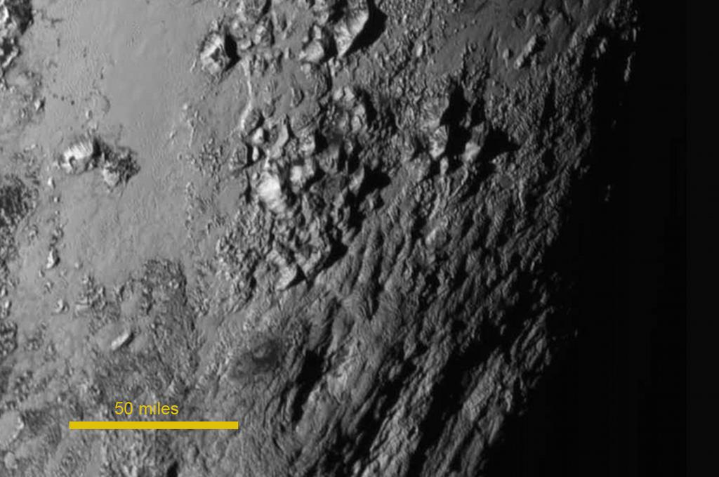 One of the first images of Pluto's surface sent back from New Horizons