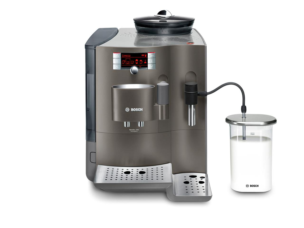 Bosch's VeroBar AromaPro coffee maker is able to identify the type of coffee beans loaded into it