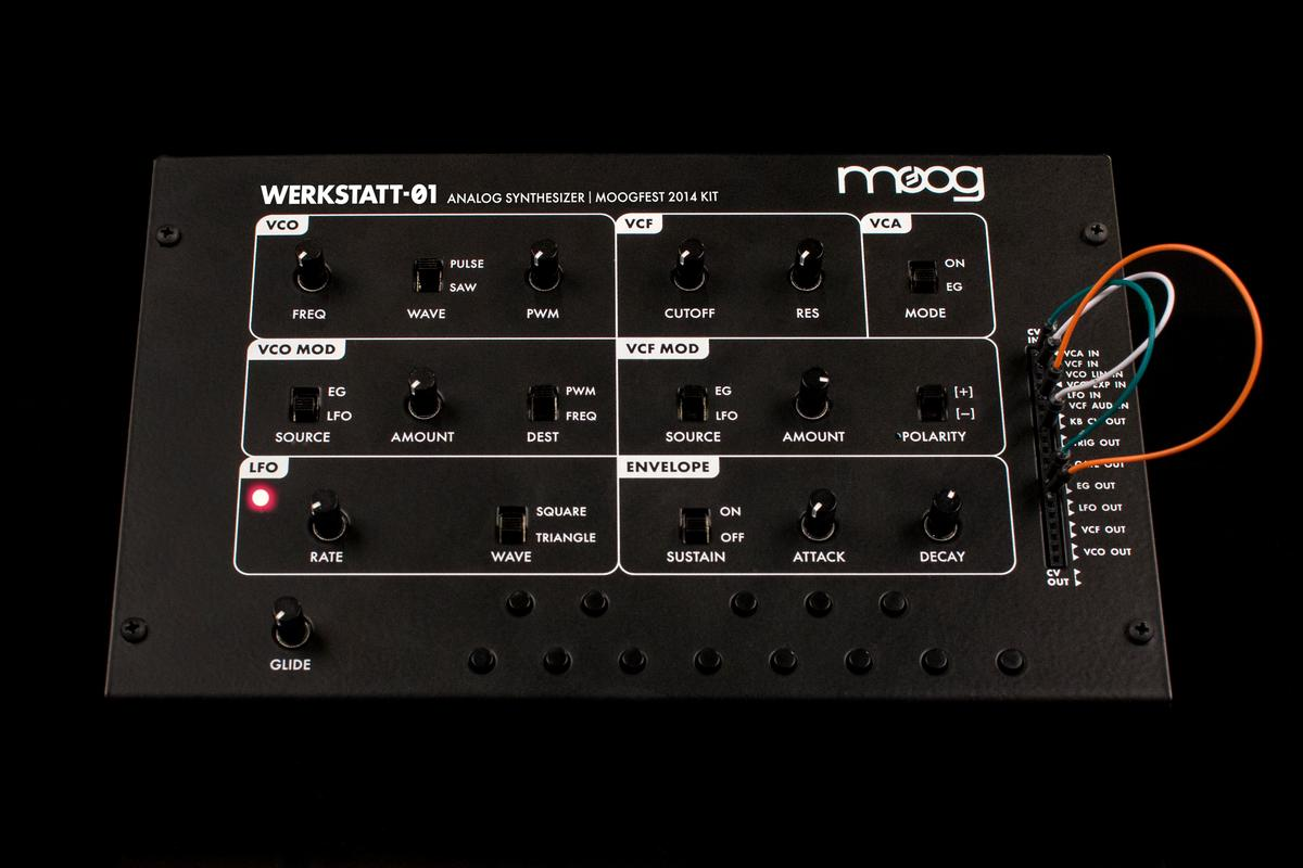The limited edition Werkstatt-Ø1 Moogfest 2014 Kit from Moog