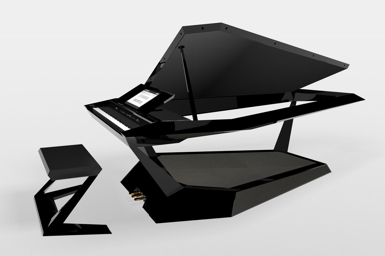 Roland built the digital grand from a design by contest winner Jong Chan Kim of Korea