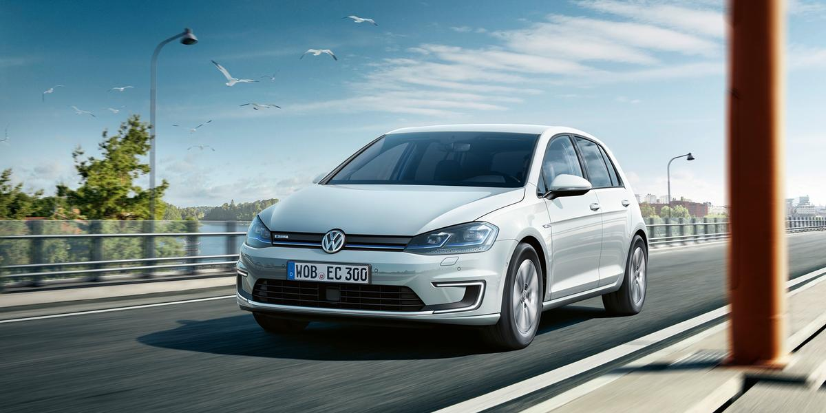 The 2017 VW e-Golf has a top speed of 93 mph (150 km/h)