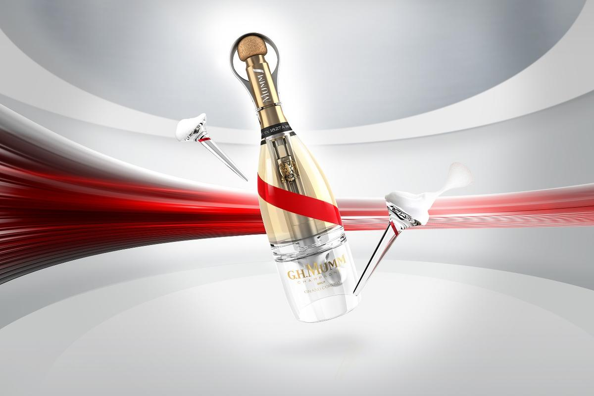 Mumm Grand Cordon Stellar is engineered to be drunk in space