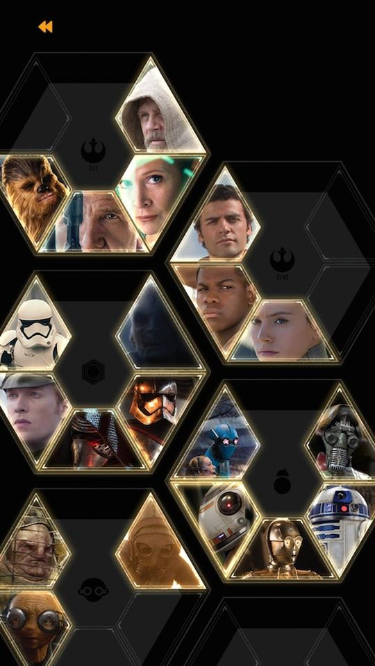 """Force Awareness mode in the app lets you find """"holocrons"""", collectible cards of characters, weapons and vehicles from the movies"""