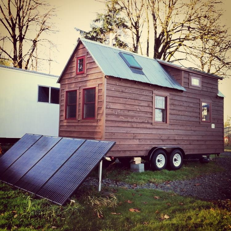 Micro home enthusiasts Christopher and Malissa Tack have hand-built a gorgeous 140 square foot eco-home on wheels (Photo: Christopher Tack)