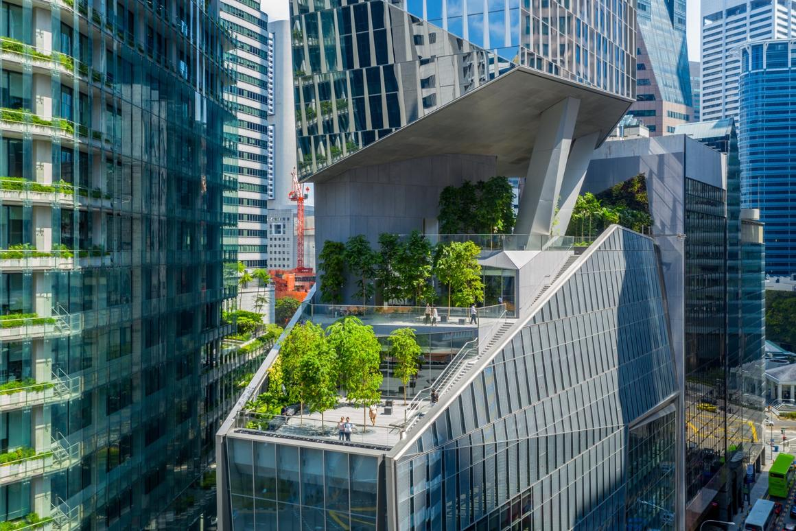 Robinson Tower is anchored by a large retail podium which is topped by a rooftop garden and terrace space