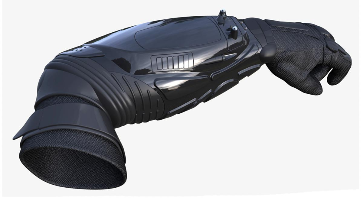 The BodyGuard is a hands-free stun device that could soon be on the arms of police