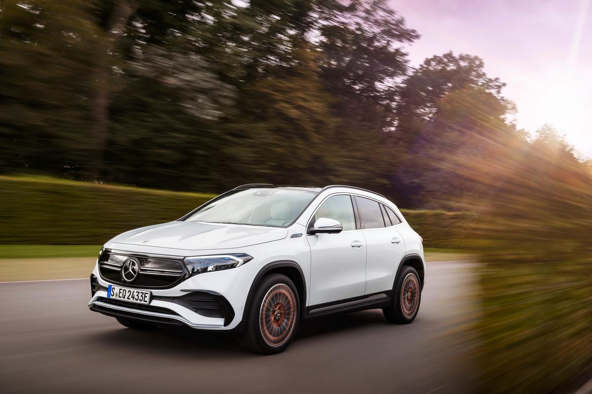 The Mercedes-Benz EQA 250 opens up a new line of compact electric SUVs