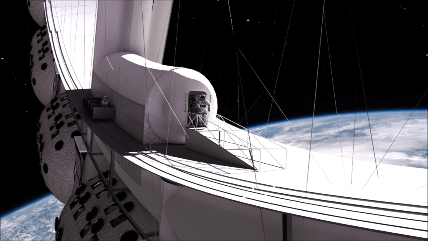 Feel like a spacewalk? Pop on a suit and wander right out into the inky darkness