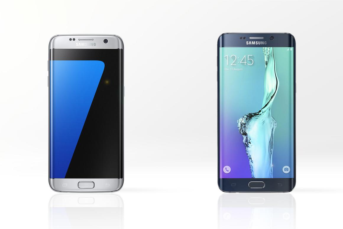 Gizmag compares the features and specs of the new Samsung Galaxy S7 edge (left) and last year's Galaxy S6 edge+