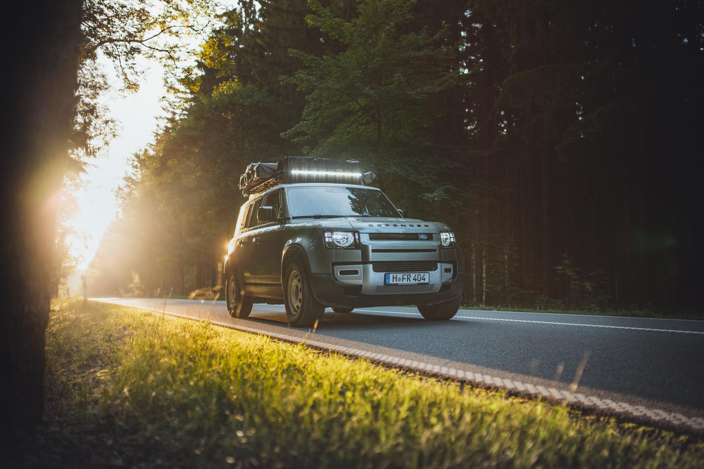 The Front Runner Slimline II rack automatically makes the new Land Rover Defender a highly versatile gear carrier