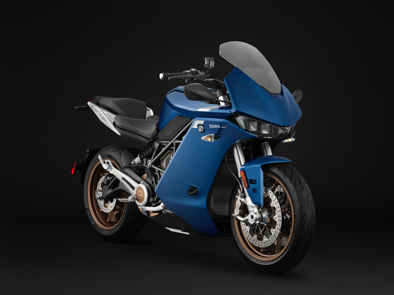 The new, fully faired Zero SR/S electric sports touring motorcycle