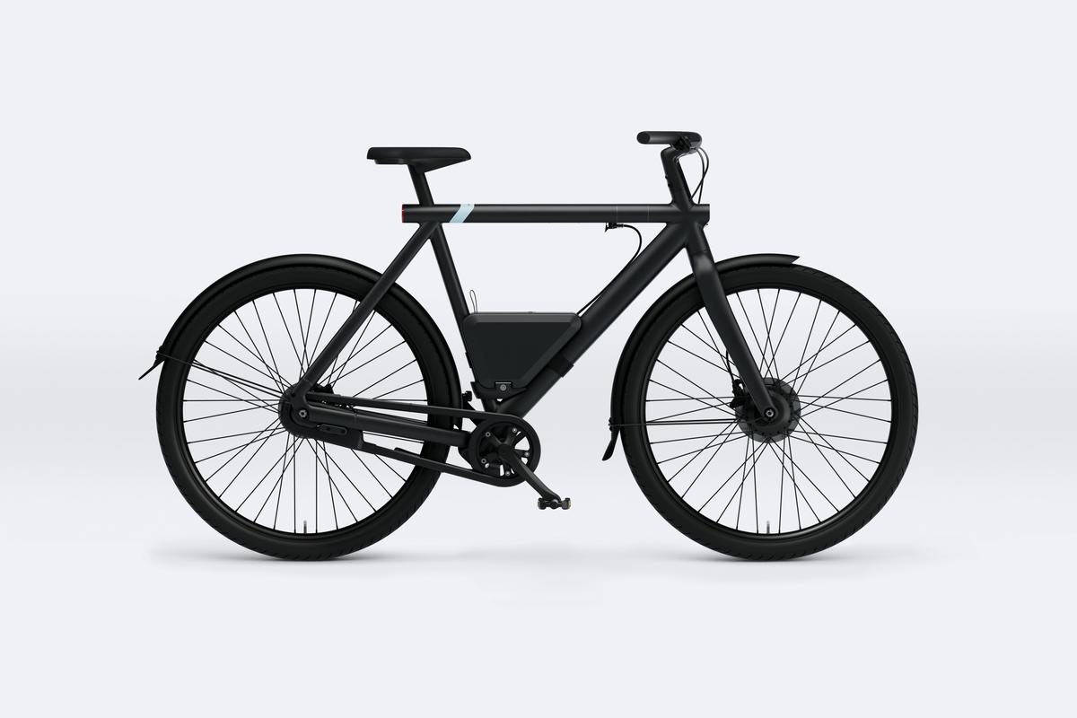 The PowerBank is compatible with VanMoof's S3 (shown) and X3 ebikes, and can add an extra 62 miles of range