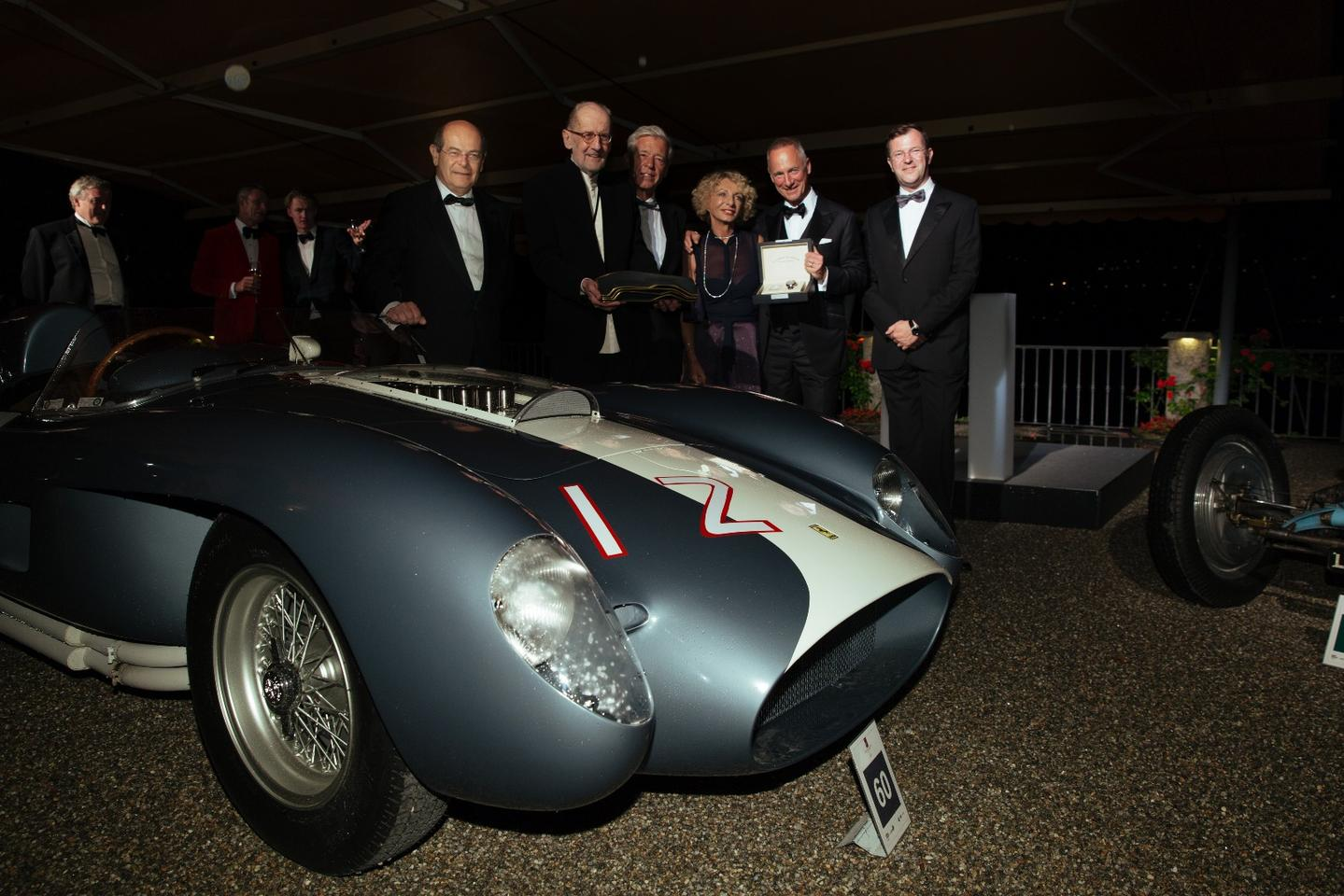 Andreas Mohringer's recently restored 1958 Ferrari 335 Sport Spider won the Trofeo BMW Group, the outright Best of Show award decided by the jury.