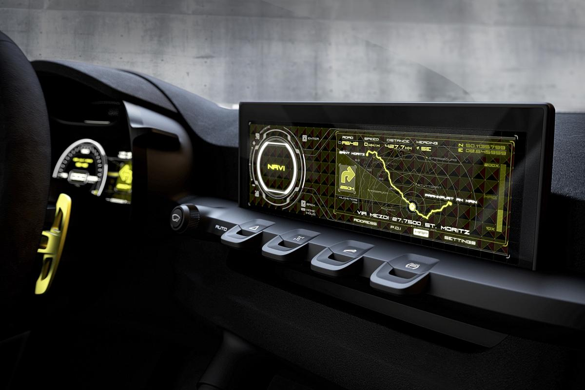 The Niro uses a widescreen infotainment display