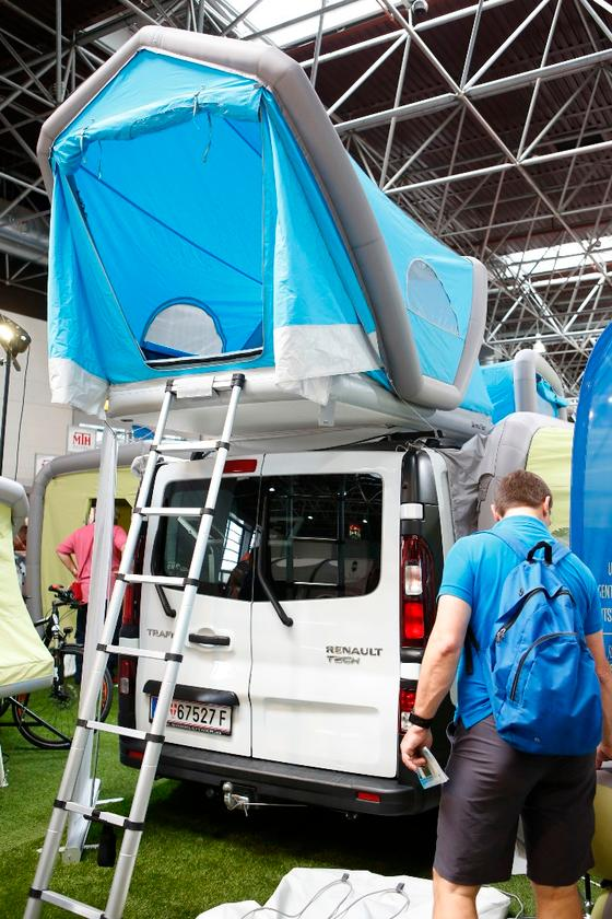 Gentletent shows its inflatable roof-top tent