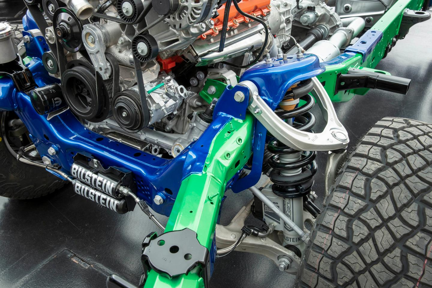 Ram has reworked the suspension front and rear and added in active damping
