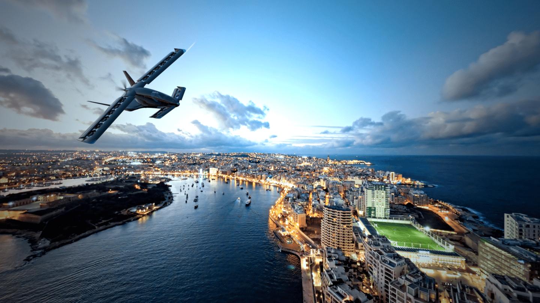 Volando a más de 200 millas por hora, el X5 puede ofrecer rangos completamente cargados de más de 300 millas gracias a un tren motriz híbrido