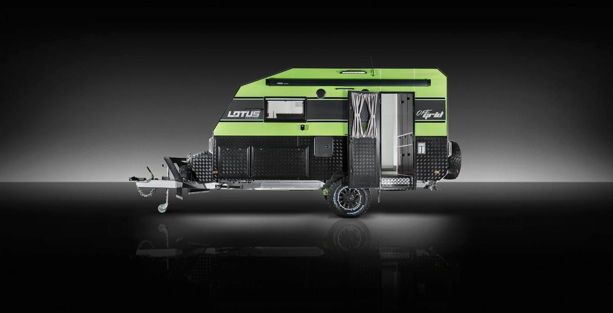 Lotus Caravans launched the Off Grid back in February and has been showing it at major Australian camper shows
