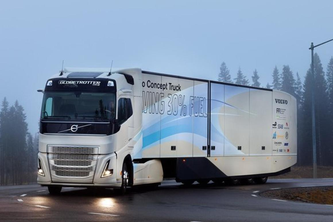 Volvo recently added a hybrid powertrain to itsSuperTruck concept