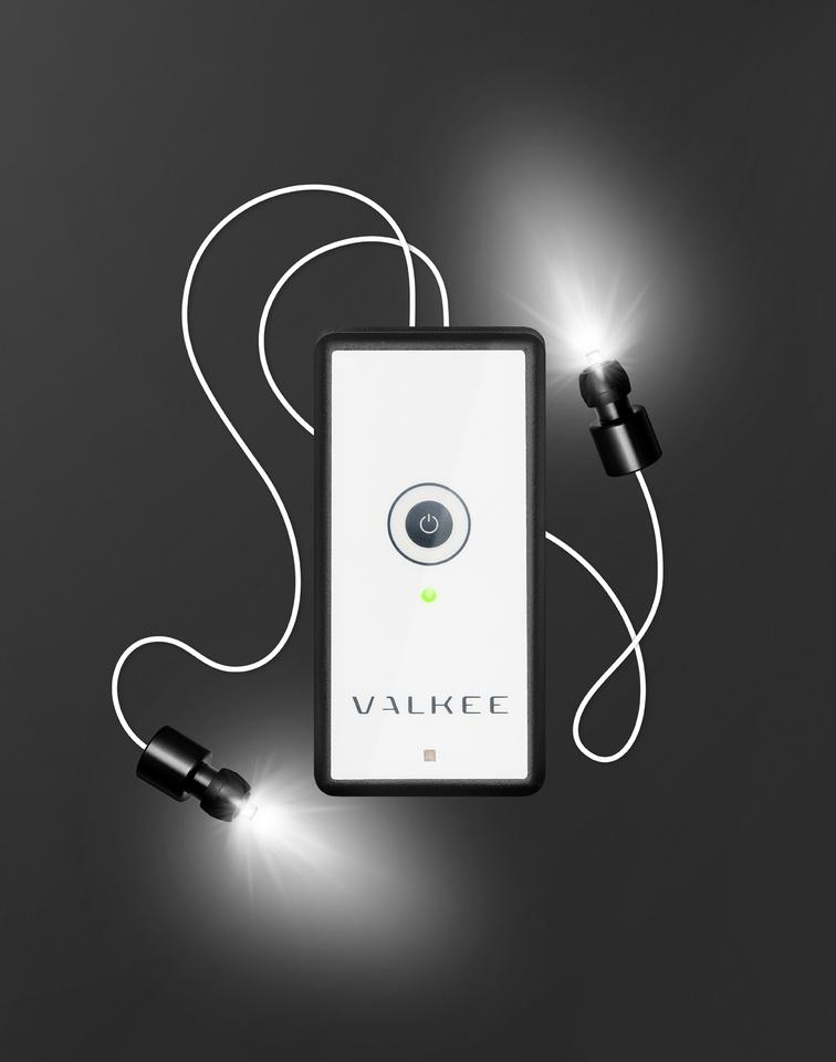 The Valkee is a device that its makers claim can treat seasonal affective disorder, by shining light into the user's brain through their ear canals