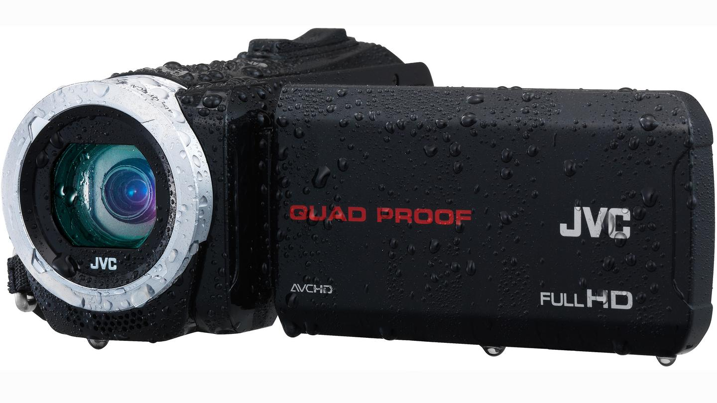"""The Everio GZ-R10 (pictured) and GZ-R70 have been ruggedized thanks to JVC's """"Quad-Proof"""" technology"""