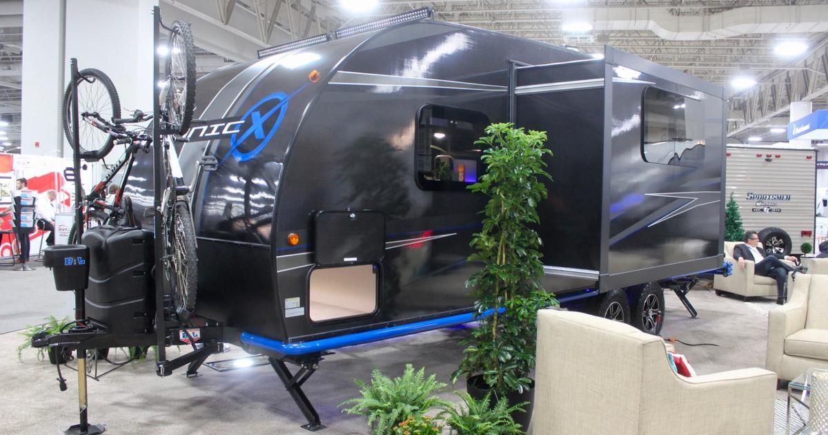 """Carbon fiber camping trailer sustains itself off-grid with """"endless"""" power and water"""