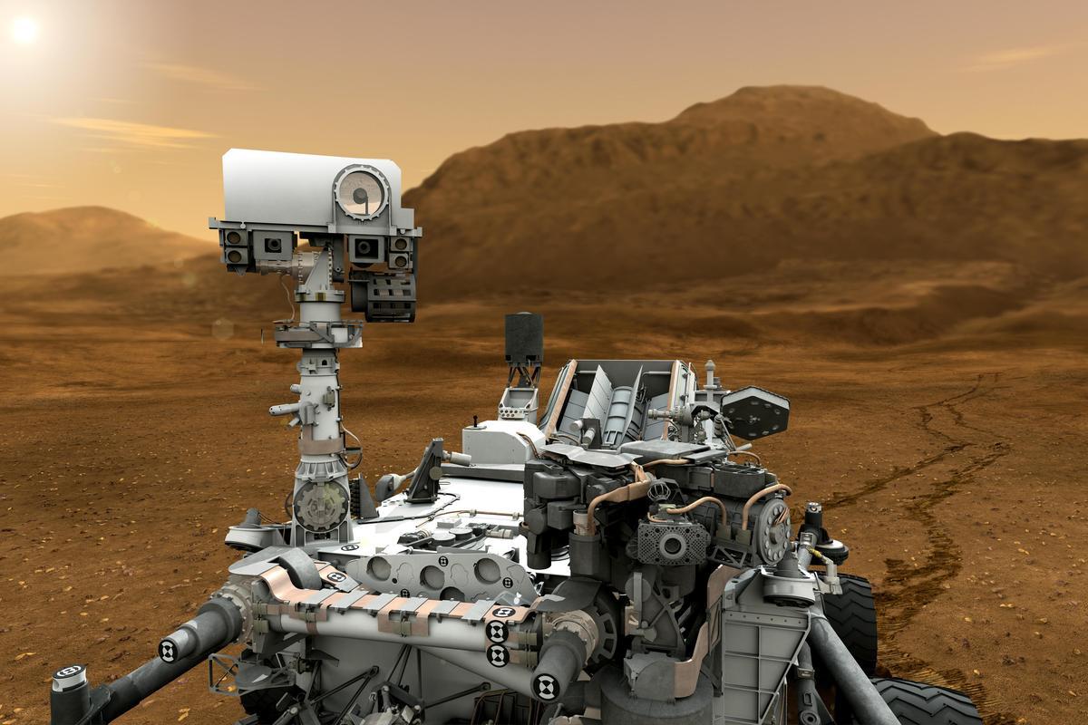 Artist's concept of Curiosity (Image: NASA/JPL-Caltech)