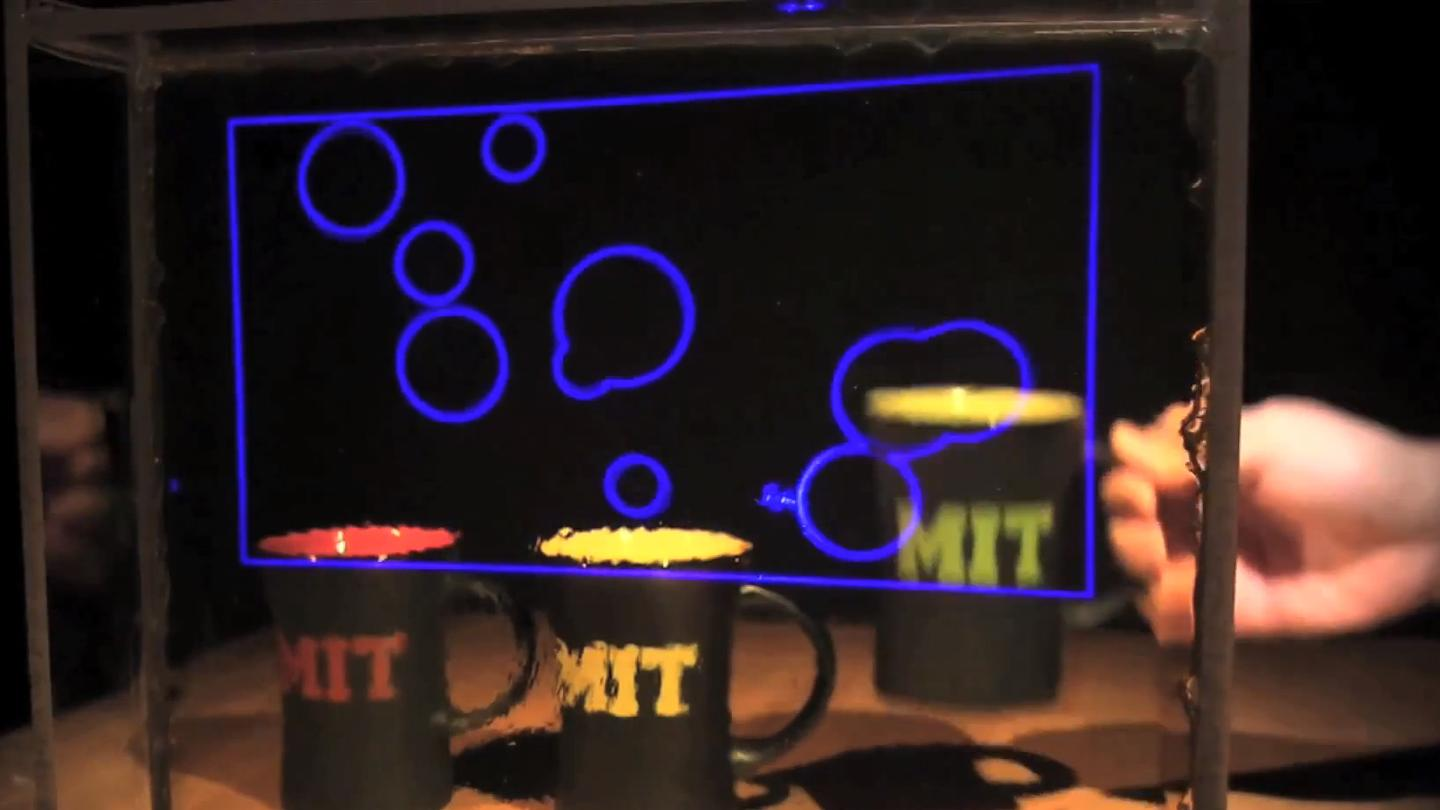 The new transparent display developed at MIT offers a wide viewing angle