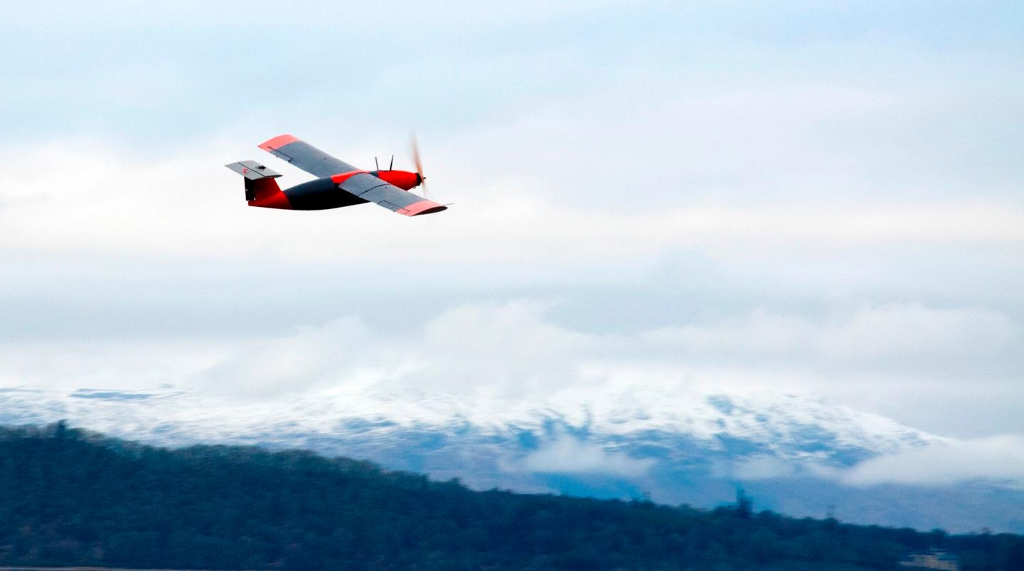 The hydrogen-powered drone takes to the Scottish skies