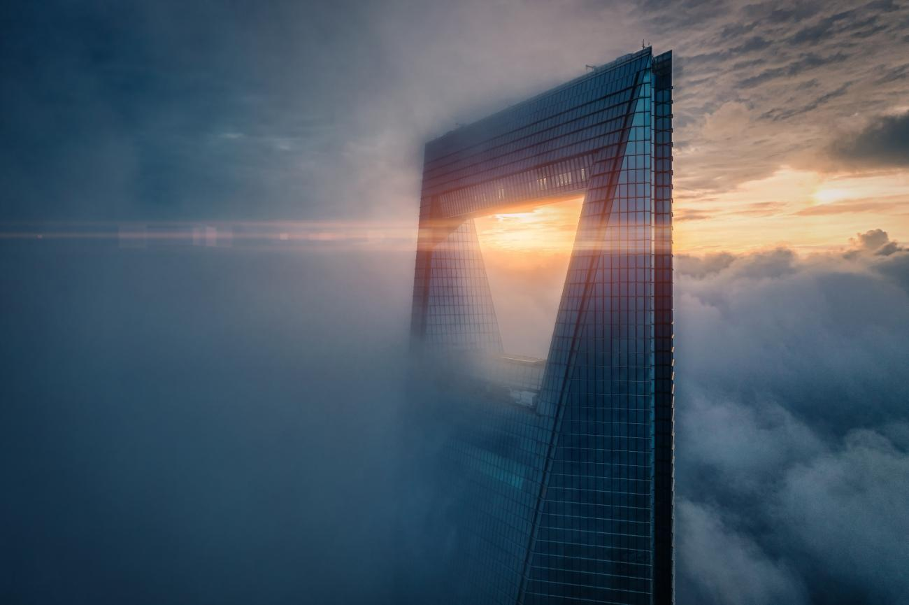 Highly Commended - Urban. Sunrise on the Top. Shanghai, China