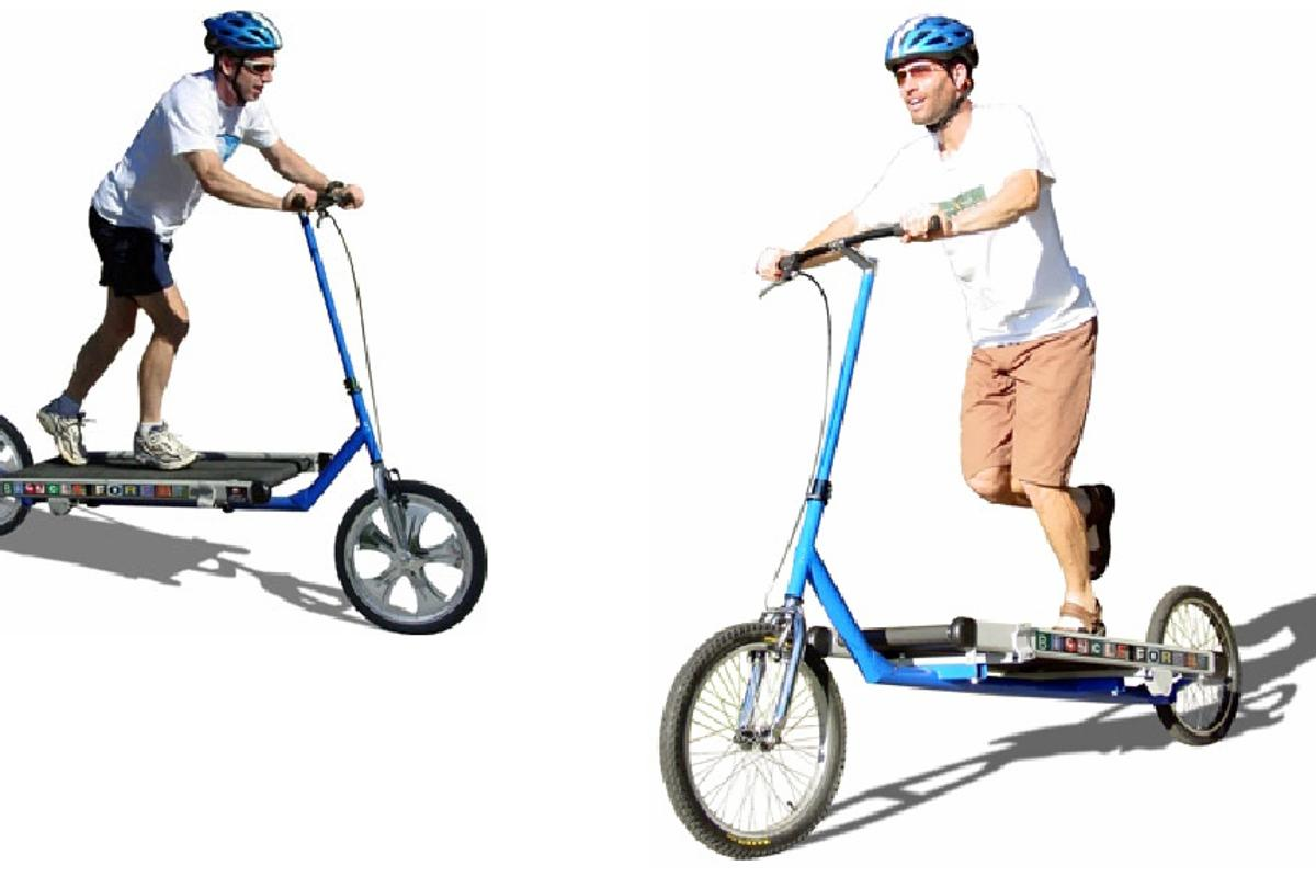 The Treadmill Bike ... for people who like the feel of a belt beneath their feet