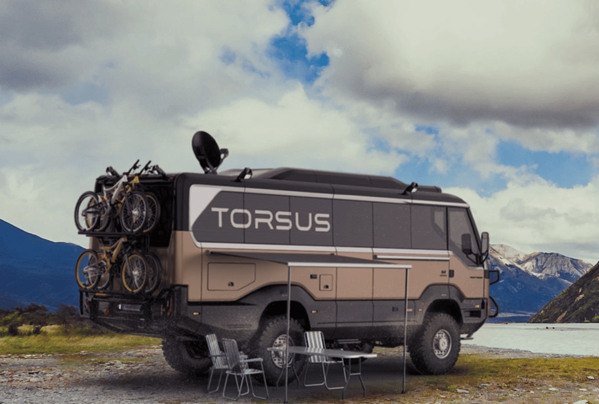 Torsus Praetorian Overlander rigged up for outdoor fun