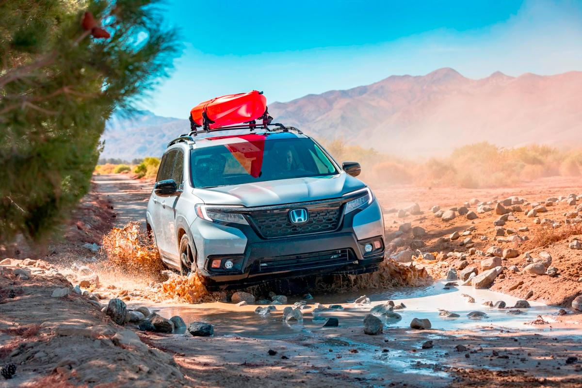 Although not a body-on-frame SUV, the Honda Passport is being emphasized as equivalent to one in capability